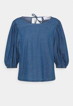 Selected Femme - SLFCLARISA PUFF SLEEVE - Blouse - medium blue denim