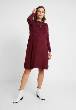 Esprit Maternity - DRESS MIX NURSING - Gebreide jurk - garnet red