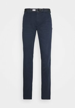 Tommy Jeans - TAPERED BELTED PANT - Chinot - dark blue