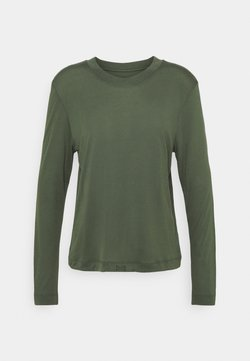 Casall - EASE CREW NECK - Camiseta de manga larga - northern green