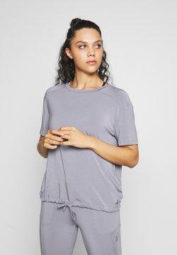 Curare Yogawear - DRAWSTRING WIDE  - Toppi - pearl grey