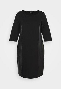 MY TRUE ME TOM TAILOR - DRESS ABRIC MIX - Freizeitkleid - deep black