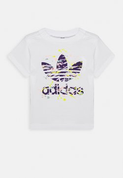 adidas Originals - TREF TEE - T-shirt imprimé - white/purple
