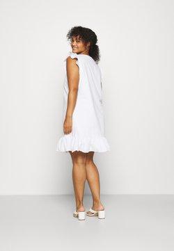 NU-IN - SLEEVELESS FRILL MINI DRESS - Vapaa-ajan mekko - white