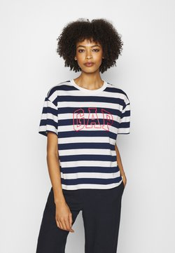 GAP - EASY TEE - T-Shirt print - navy/white