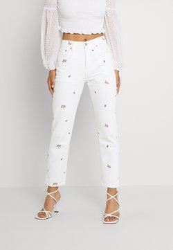 Levi's® - 501 CROP - Slim fit -farkut - white denim