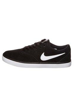 Nike SB - CHECK SOLARSOFT - Sneaker low - black/white