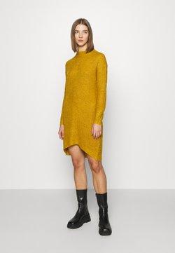 JDY - JDYMIGGY MEGAN HIGH NECK DRESS - Jumper dress - harvest gold/black ply