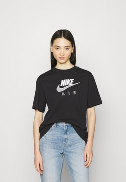 Nike Sportswear - AIR  - Camiseta estampada - black/white