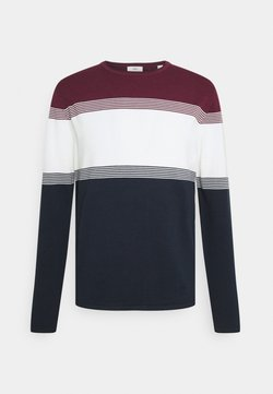 Esprit - COO F STRIP  - Strickpullover - dark red
