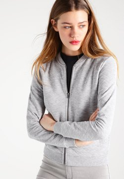 ONLY - ONLJOYCE - Felpa aperta - light grey melange