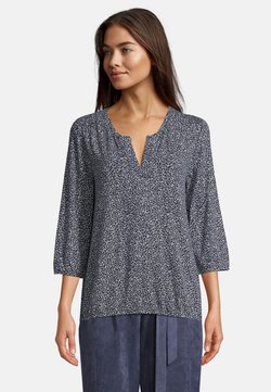 Betty & Co - MIT 3/4 ARM - Bluse - blau/weiß