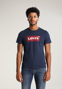 Levi's® - GRAPHIC SET-IN NECK - T-shirts med print - graphic dress blues