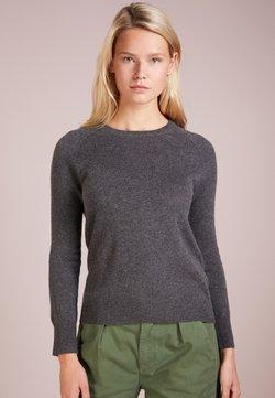 pure cashmere - CLASSIC CREW NECK  - Stickad tröja - graphite