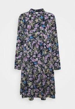 JDY - JDYPIPER DRESS - Skjortekjole - black iris/purple/parisian blue