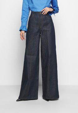 Victoria Victoria Beckham - EXAGERATED WIDE LEG - Jeansy Dzwony - blue denim
