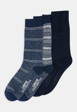 Levi's® - GIFTBOX REG CUT FAIR ISLE 4 PACK - Socken - blue