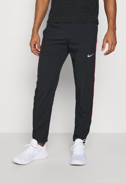 Nike Performance - RUN STRIPE PANT - Pantalones deportivos - black/university red/silver