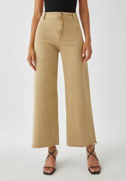 PULL&BEAR - Flared Jeans - camel