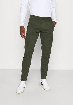 Tommy Jeans - SCANTON PANT - Chino - dark olive