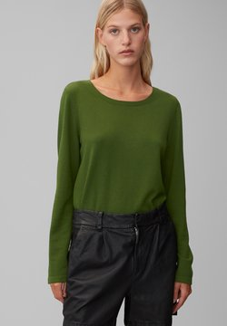 Marc O'Polo - LONG SLEEVE - Strickpullover - lush pine