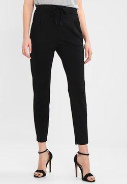 Vero Moda - VMEVA LOOSE STRING PANTS - Spodnie materiałowe - black