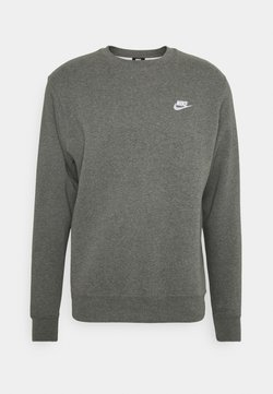 Nike Sportswear - CLUB - Sweatshirt - charcoal heather/white