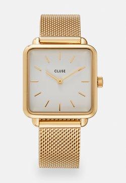 Cluse - LA TETRAGONE - Montre - gold-coloured/white