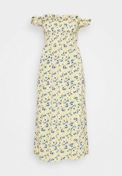 Fashion Union - ASHANTI - Maxikleid - yellow/blue