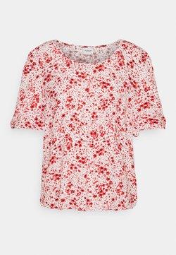 JDY - JDYGAIA PUFF  - T-Shirt print - cloud dancer/mars red