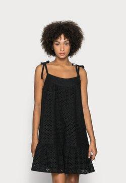 GAP - EYELET MINI SWING - Korte jurk - true black