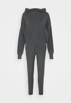 Even&Odd - SET - Strickpullover - mottled dark grey