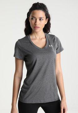 Under Armour - TECH - T-Shirt basic - carbon heather/metallic silver