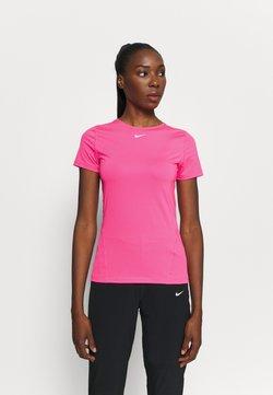 Nike Performance - ALL OVER - T-Shirt basic - hyper pink/white