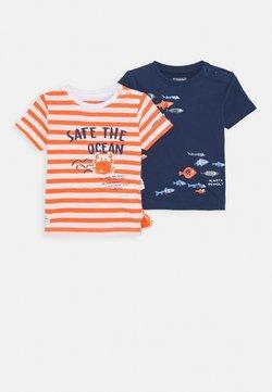 Staccato - BABY 2 PACK - T-shirt print - orange/dark blue