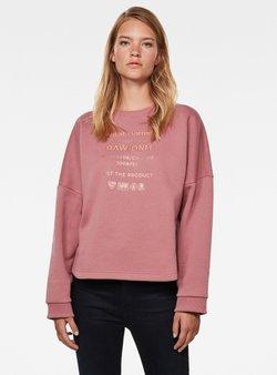 G-Star - GRAPHIC TEXT RELAXED - Sweatshirt - garnet bleach