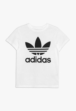 adidas Originals - TREFOIL TEE - Printtipaita - white/black
