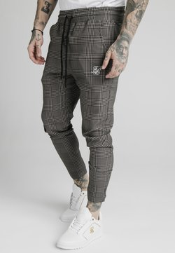 SIKSILK - SMART JOGGER PANT - Stoffhose - beige dogtooth
