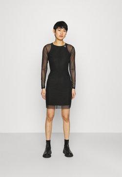 Calvin Klein Jeans - NECK DRESS - Shift dress - black
