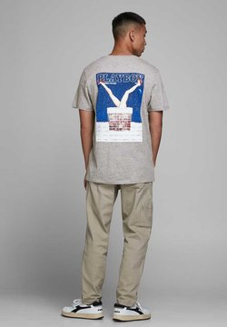 Jack & Jones - Print T-shirt - light grey melange