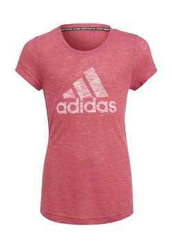 adidas Performance - T-shirt con stampa - pink