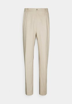 J.LINDEBERG - REMY TECH PLEATED PANTS - Pantalon de costume - sand grey