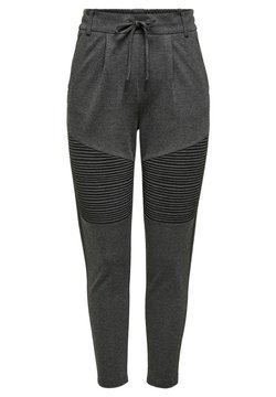 ONLY - ONLPOPTRASH EASY BIKER PANT - Jogginghose - dark grey melange