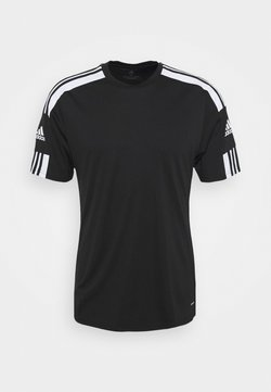 adidas Performance - SQUAD - T-Shirt print - black/white