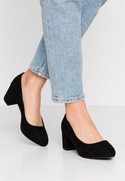 Bianco Wide Fit - WIDE FIT BIABLANCHE BLOK HEEL - Classic heels - black