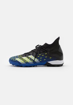 adidas Performance - PREDATOR FREAK .3 TF - Botas de fútbol multitacos - core black/footwear white/solar yellow