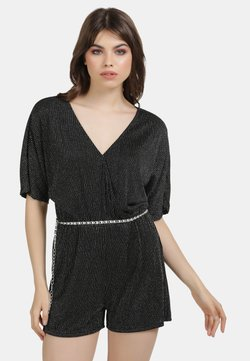 myMo at night - Jumpsuit - schwarz silber