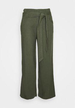 GAP - WIDE LEG SOLID - Pantalones - khaki