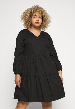 Noisy May Curve - NMPINAR WRAP POPLIN DRESS - Kjole - black