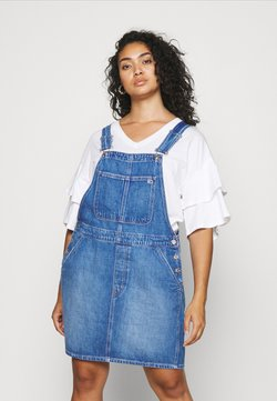 Tommy Jeans Curve - DUNGAR DRESS  - Denim dress - denim medium